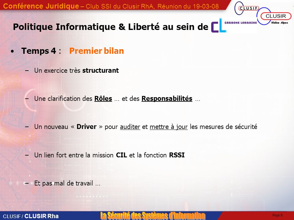 Politique Informatique & Liberté au sein de