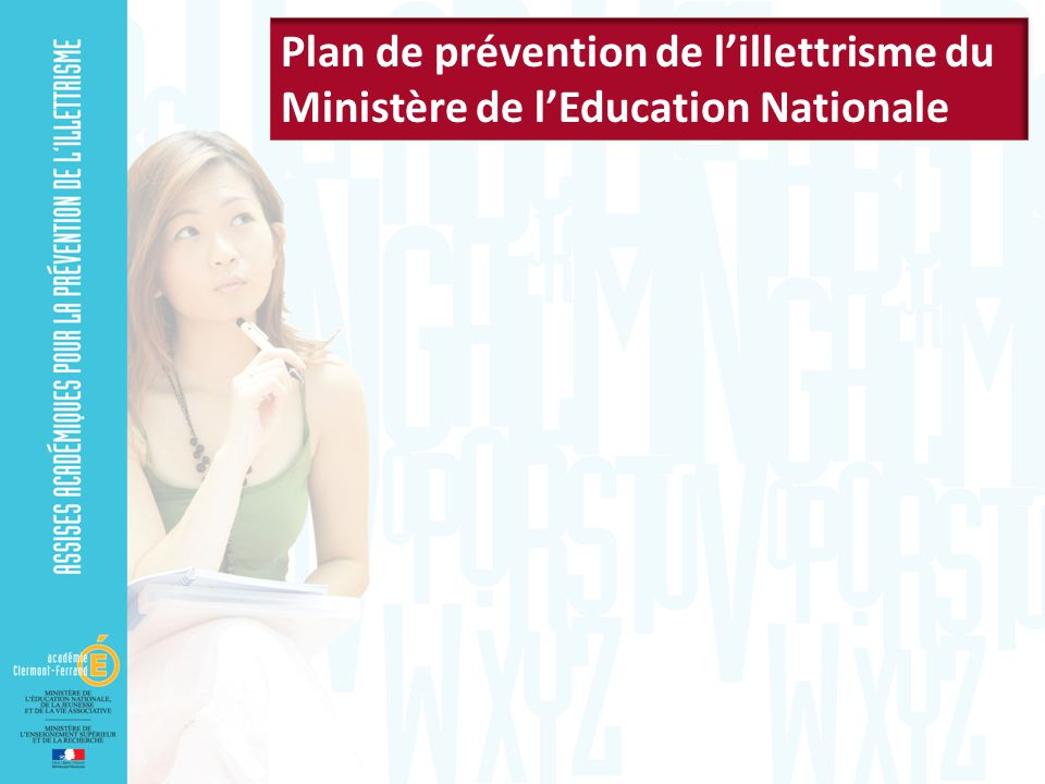 Plan de prévention de l'illettrisme du Ministère de l'Education Nationale