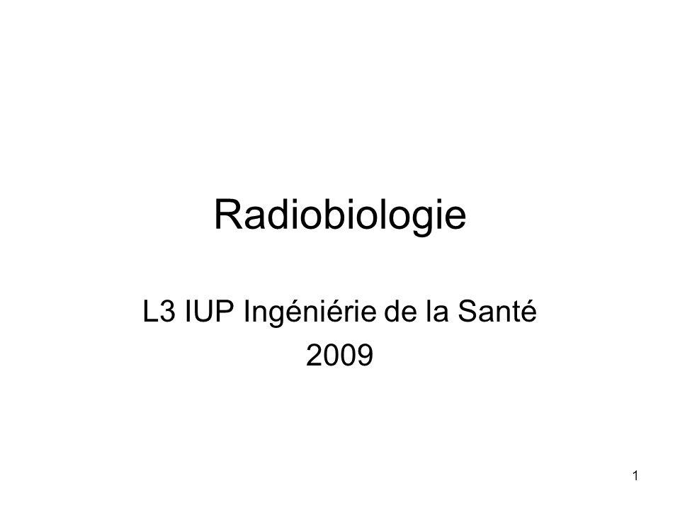 L3 IUP Ingéniérie de la Santé 2009