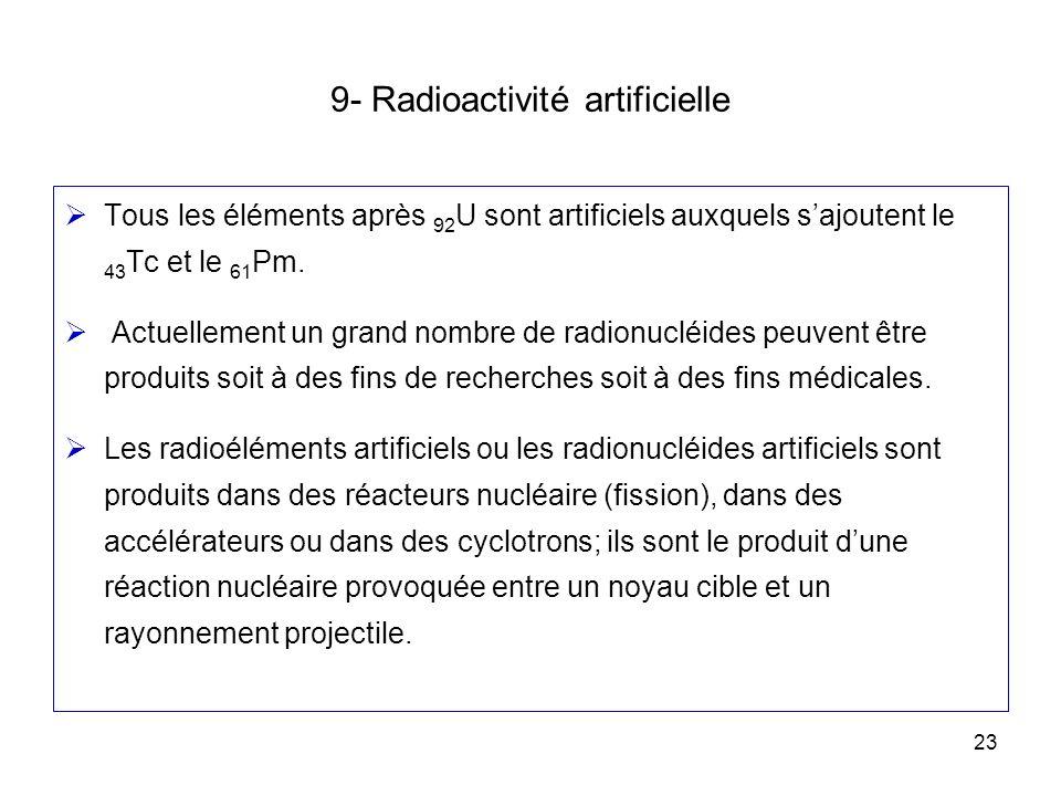 9- Radioactivité artificielle
