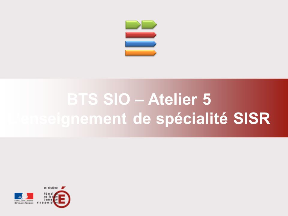 L'enseignement de spécialité SISR