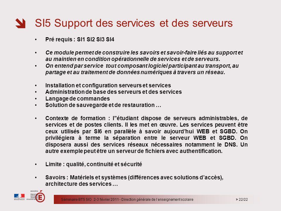 SI5 Support des services et des serveurs