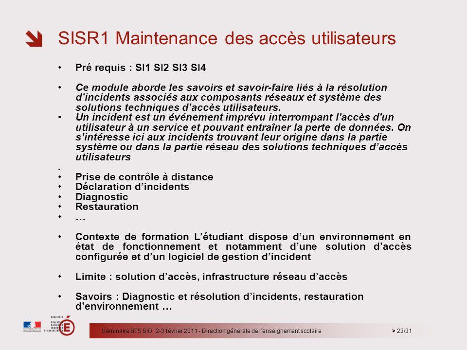 SISR1 Maintenance des accès utilisateurs