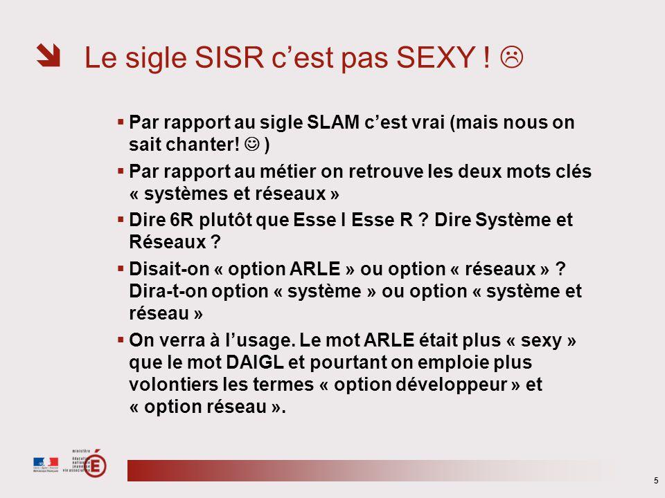 Le sigle SISR c'est pas SEXY ! 
