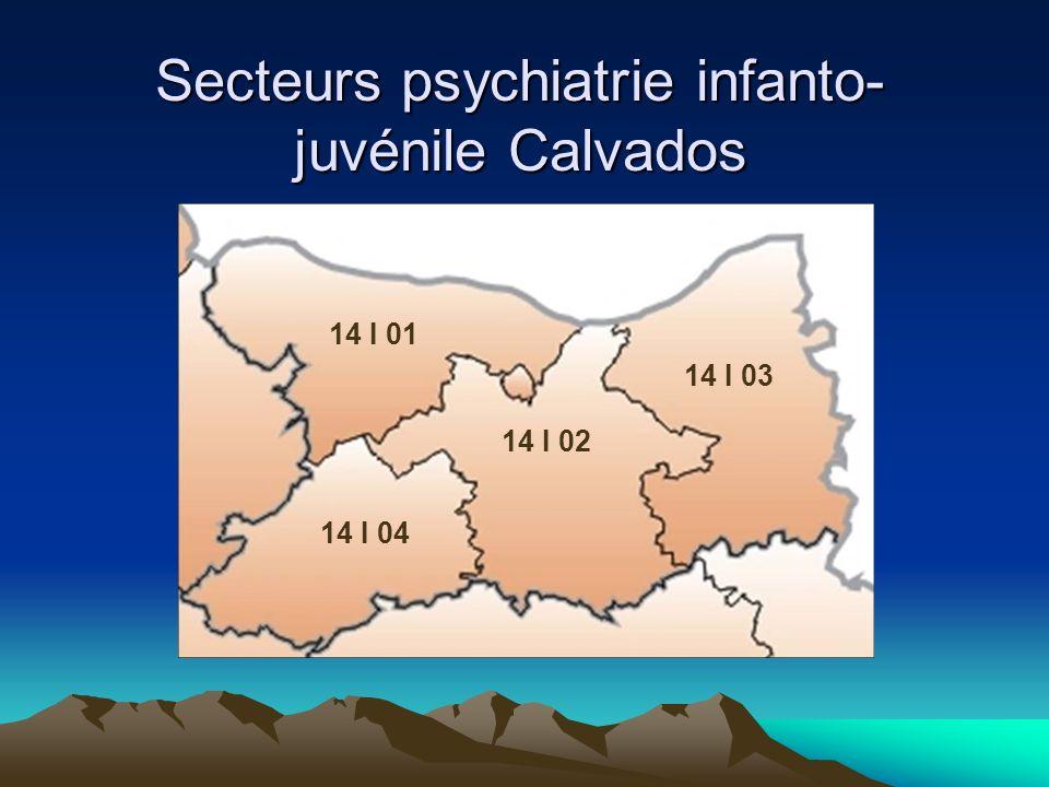 Secteurs psychiatrie infanto-juvénile Calvados