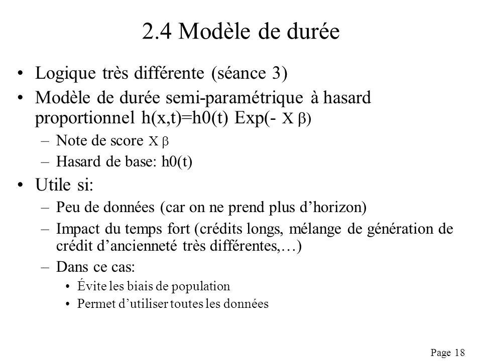 2.4 Modèle de durée Logique très différente (séance 3)