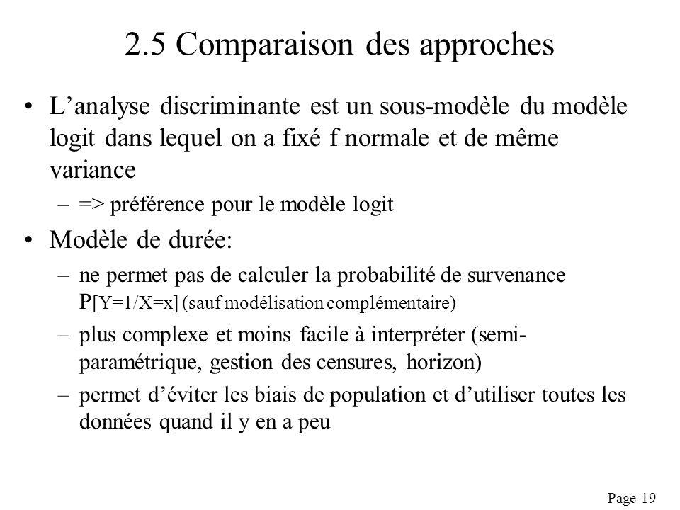 2.5 Comparaison des approches