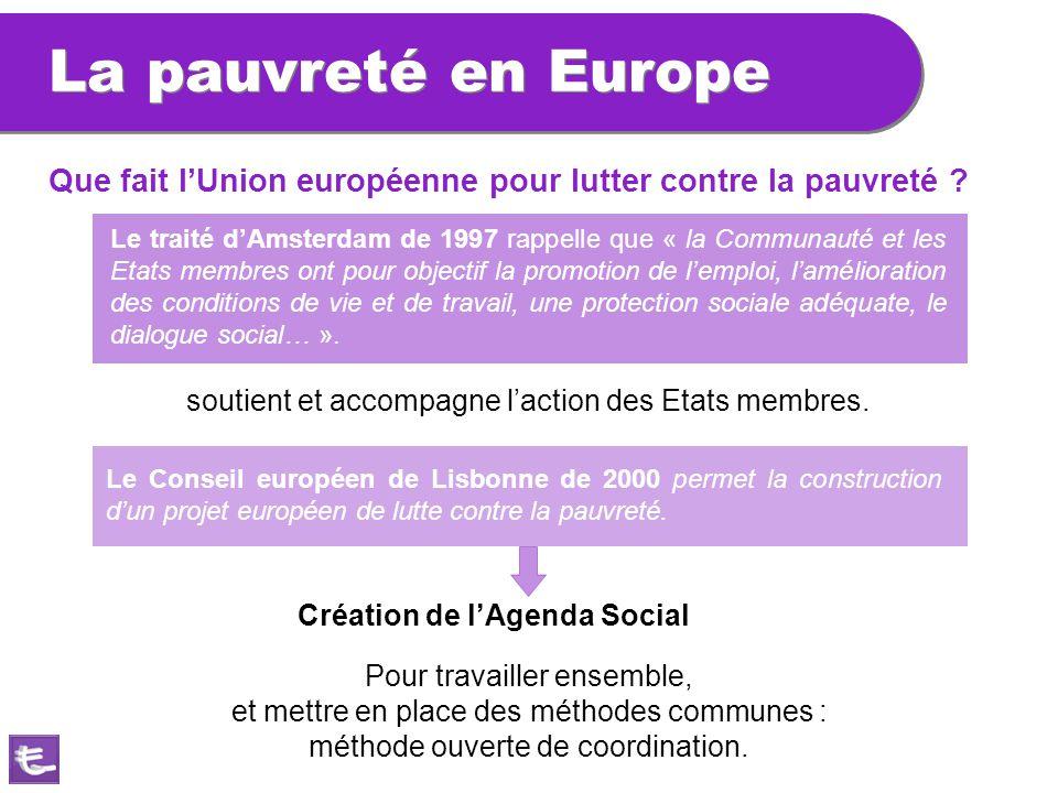 La pauvreté en Europe Que fait l'Union européenne pour lutter contre la pauvreté