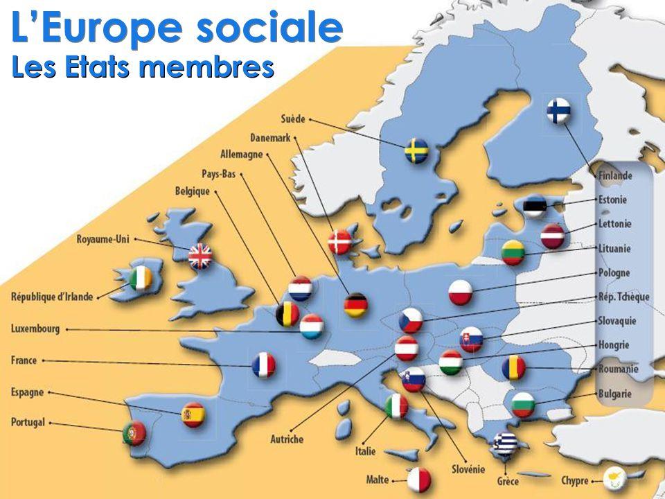 L'Europe sociale Les Etats membres