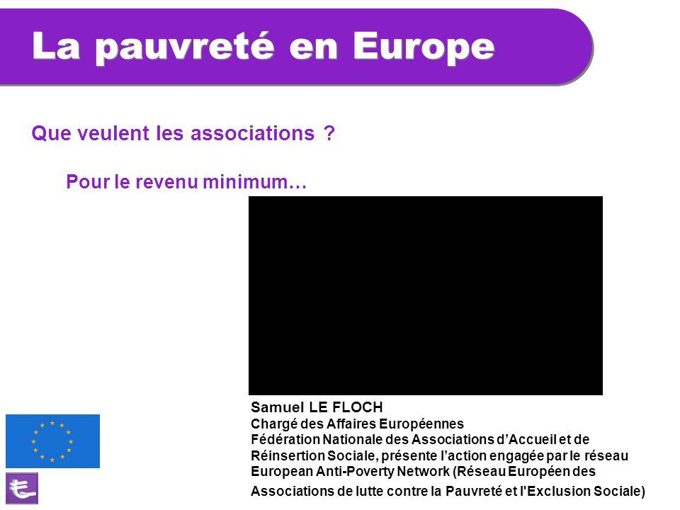 La pauvreté en Europe Que veulent les associations