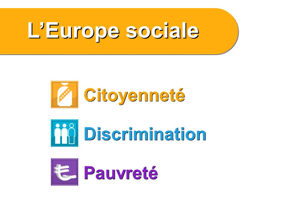 L'Europe sociale Citoyenneté Discrimination Pauvreté