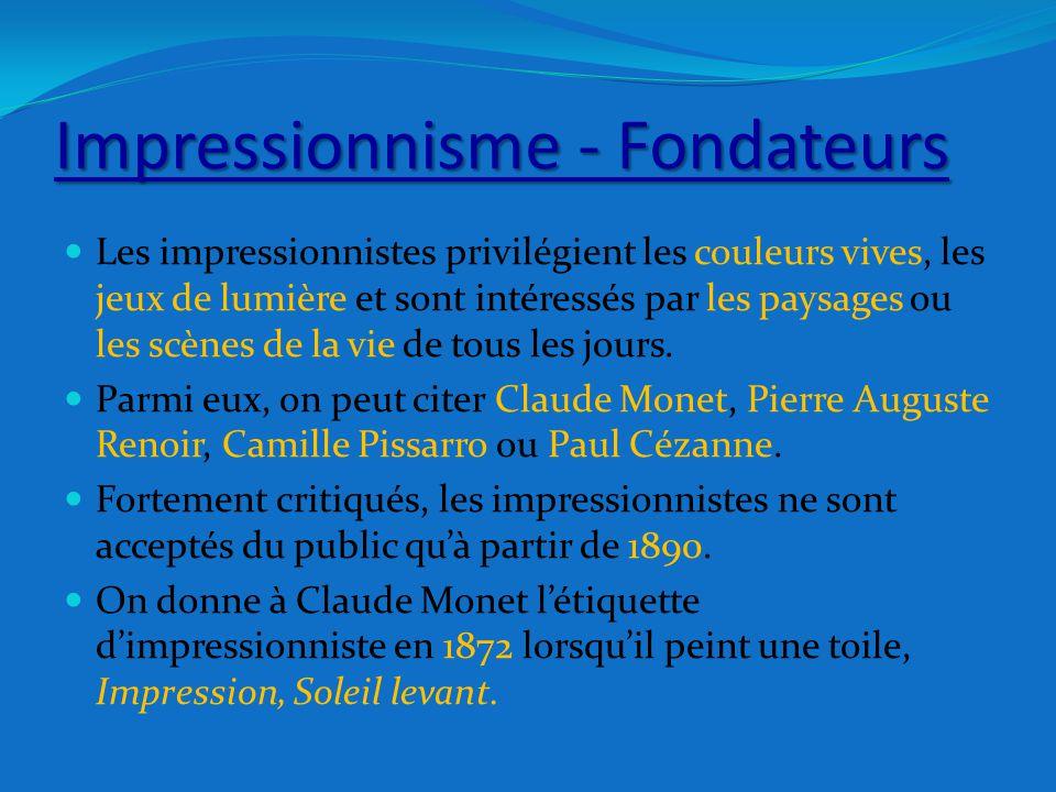 Impressionnisme - Fondateurs