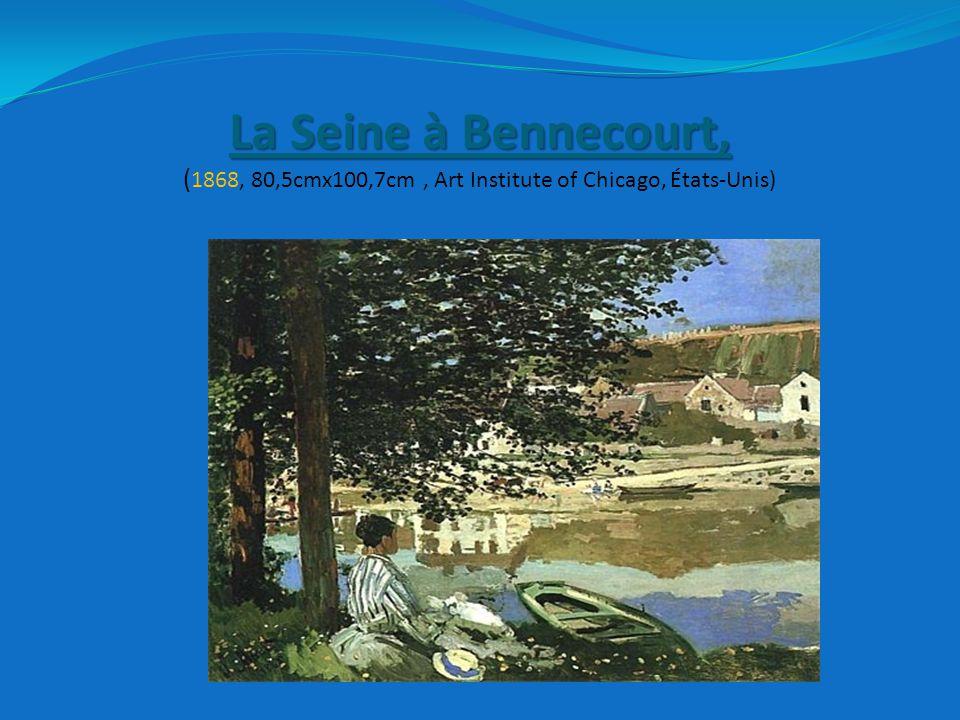 La Seine à Bennecourt, (1868, 80,5cmx100,7cm , Art Institute of Chicago, États-Unis)