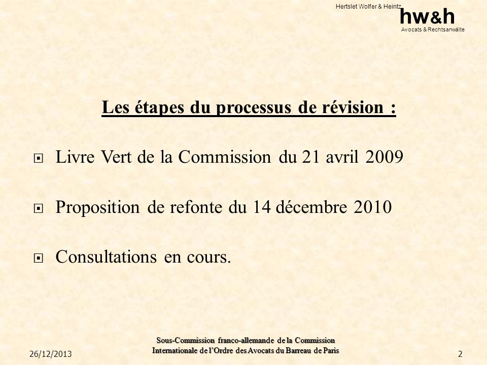 Les étapes du processus de révision :
