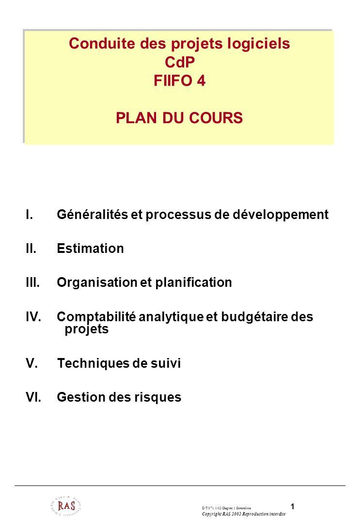 Conduite des projets logiciels CdP FIIFO 4 PLAN DU COURS