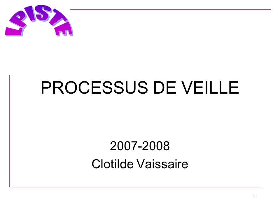 PROCESSUS DE VEILLE 2007-2008 Clotilde Vaissaire