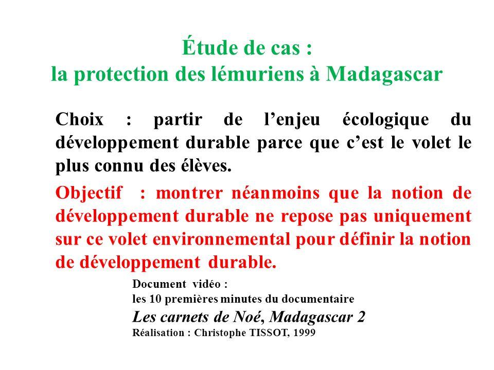 Étude de cas : la protection des lémuriens à Madagascar
