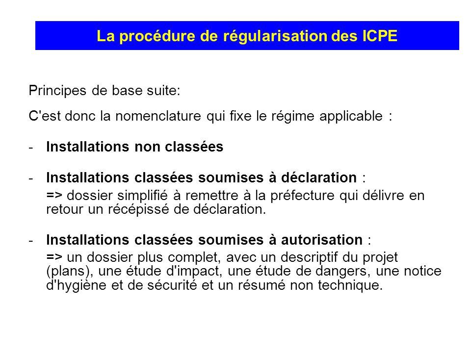 La procédure de régularisation des ICPE