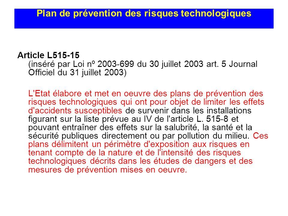 Plan de prévention des risques technologiques