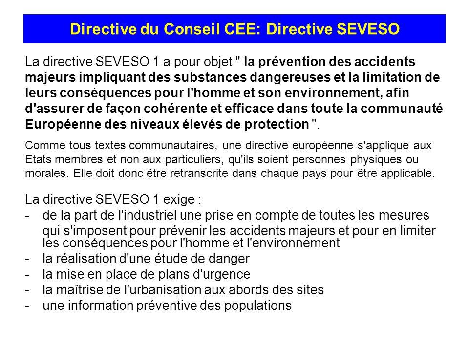 Directive du Conseil CEE: Directive SEVESO