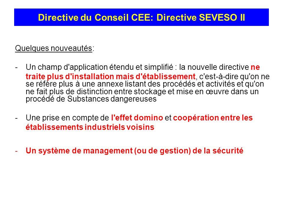 Directive du Conseil CEE: Directive SEVESO II