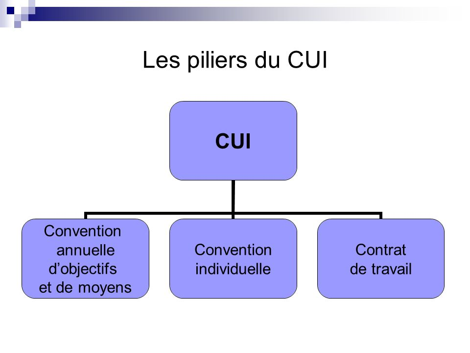 Les piliers du CUI