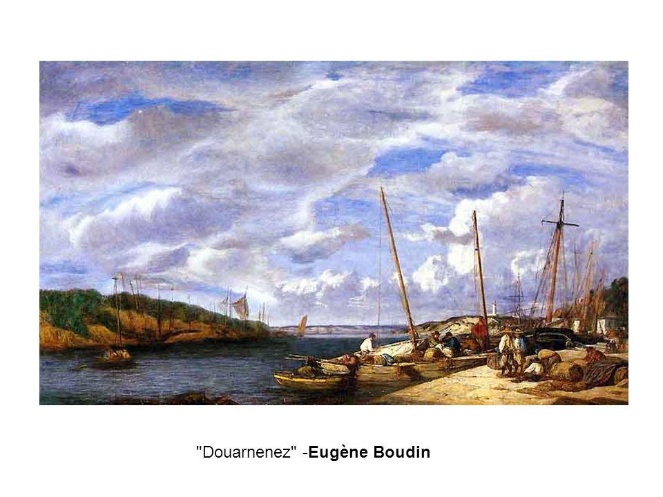 Douarnenez -Eugène Boudin