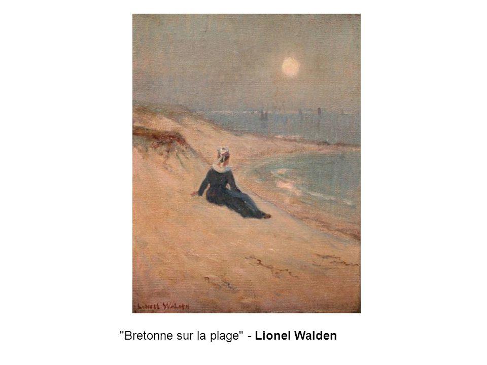 Bretonne sur la plage - Lionel Walden