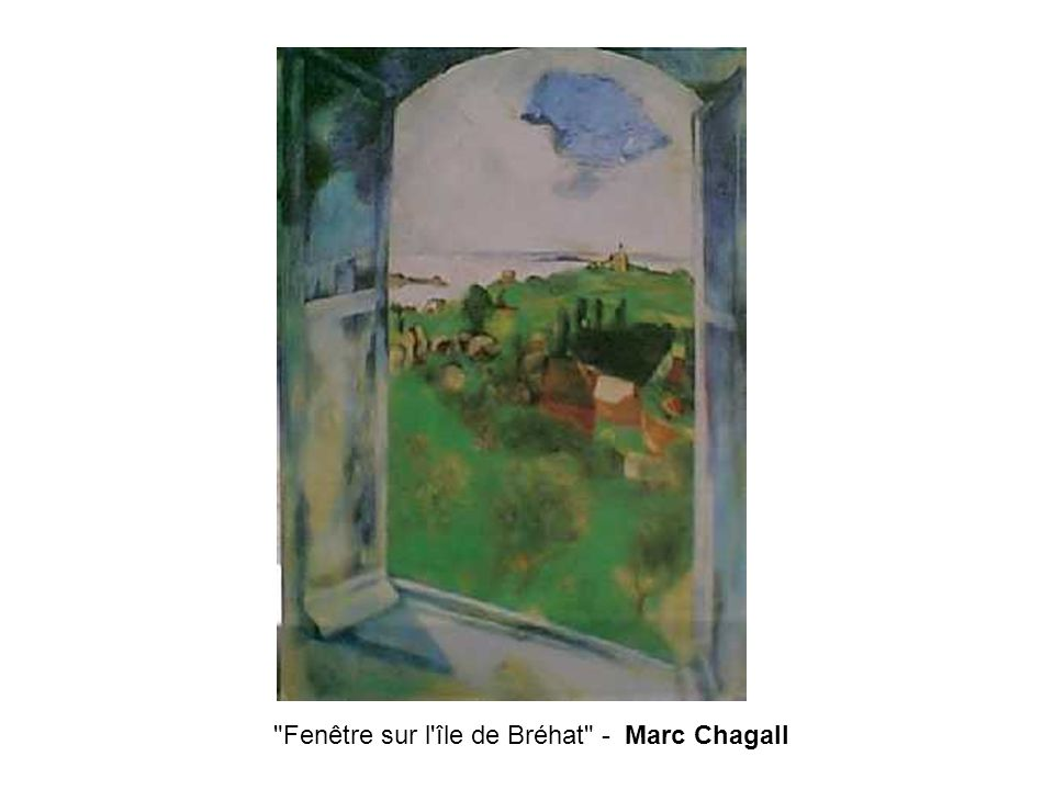 Fenêtre sur l île de Bréhat - Marc Chagall