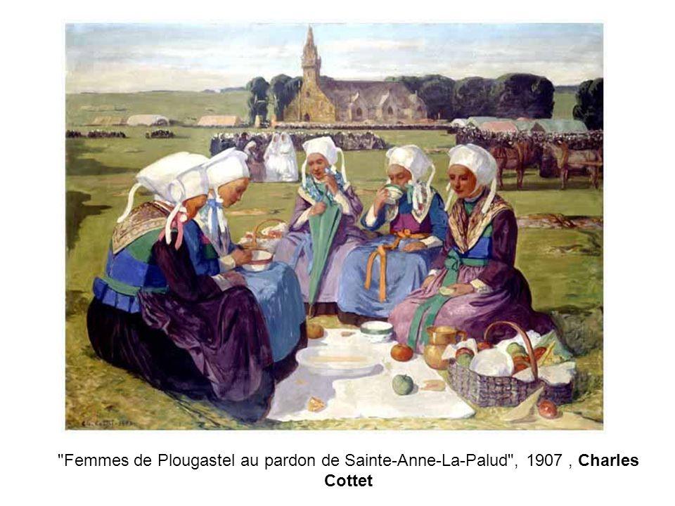Femmes de Plougastel au pardon de Sainte-Anne-La-Palud , 1907 , Charles Cottet
