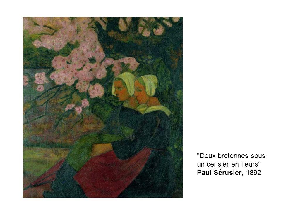Deux bretonnes sous un cerisier en fleurs