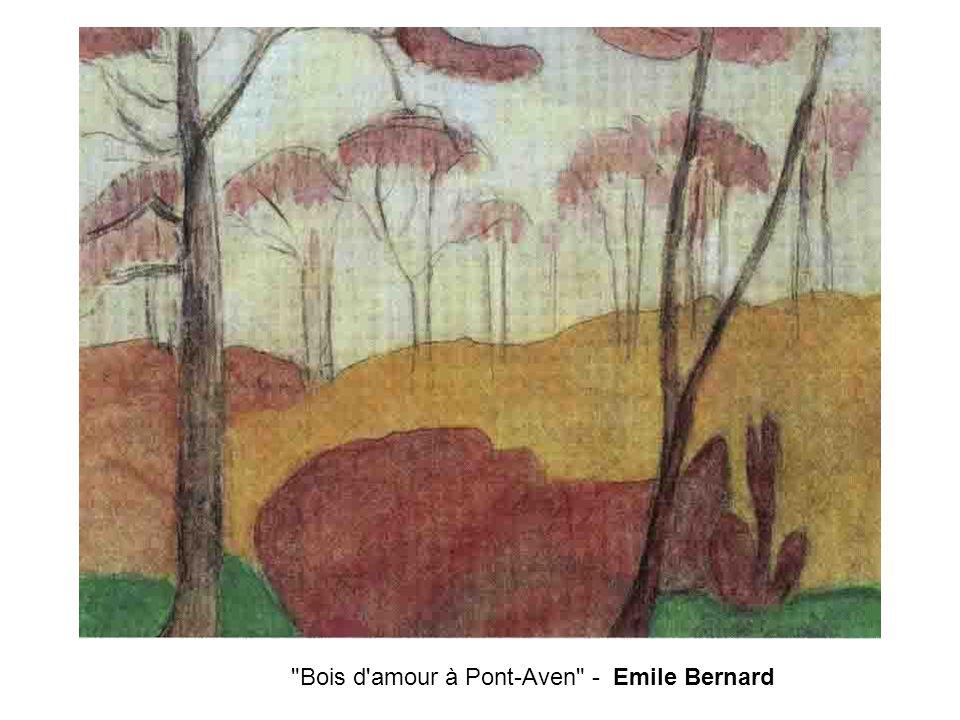 Bois d amour à Pont-Aven - Emile Bernard