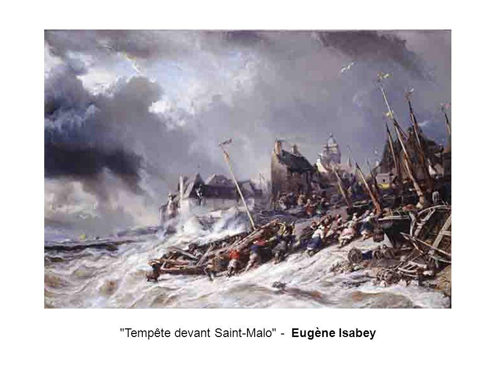 Tempête devant Saint-Malo - Eugène Isabey