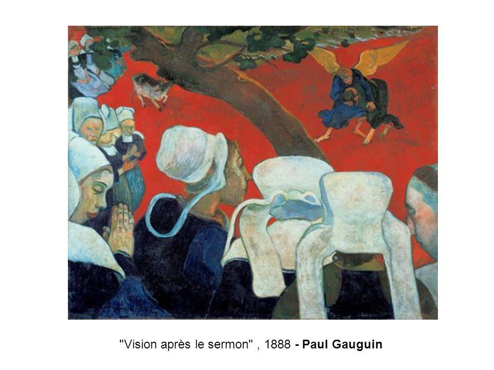 Vision après le sermon , 1888 - Paul Gauguin