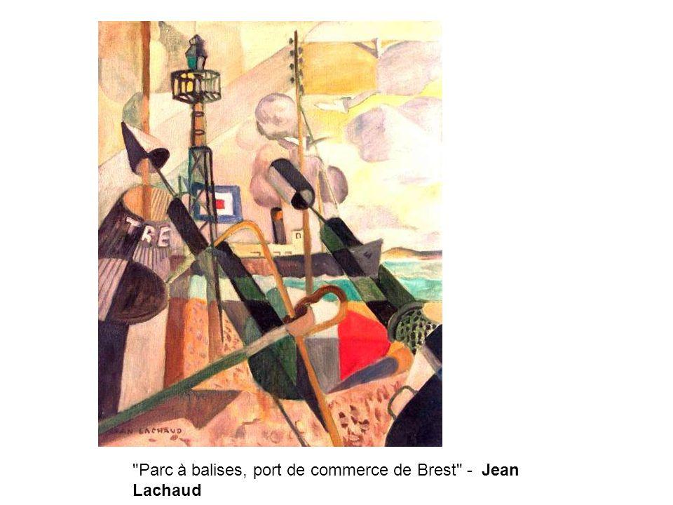 Parc à balises, port de commerce de Brest - Jean Lachaud