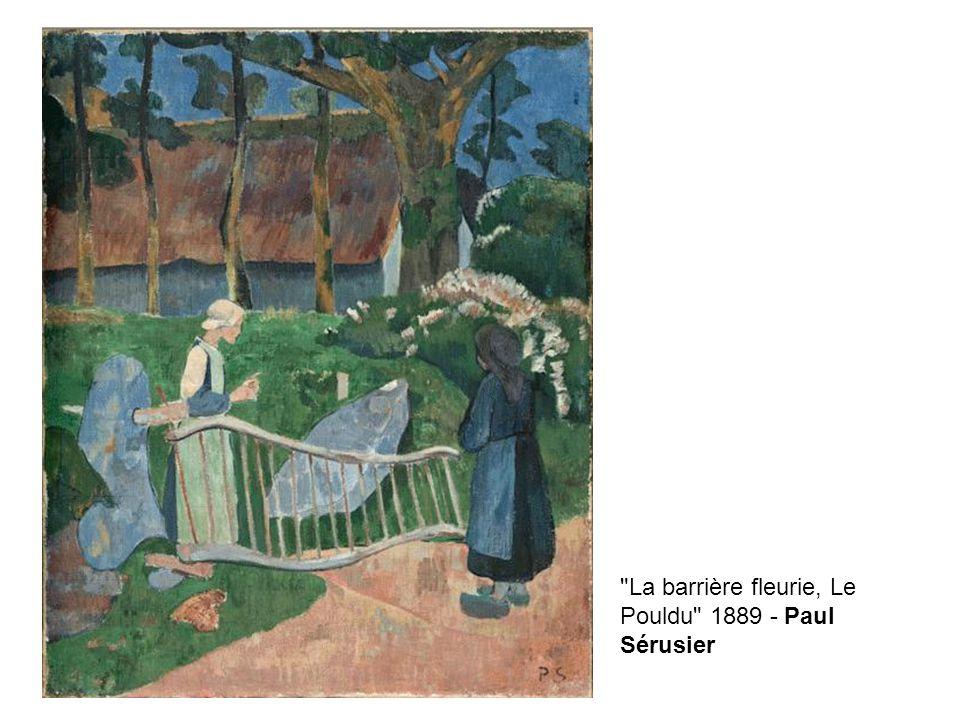 La barrière fleurie, Le Pouldu 1889 - Paul Sérusier