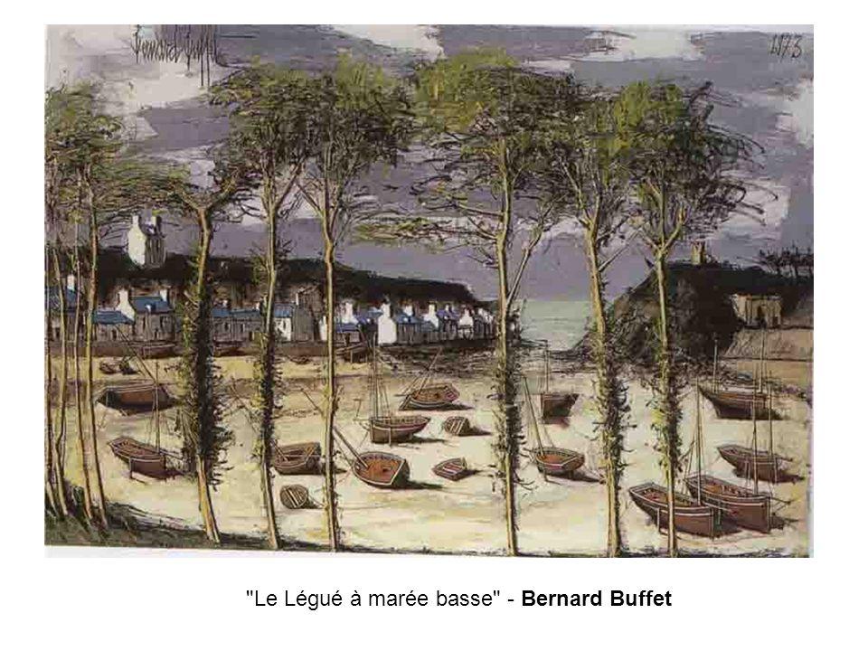 Le Légué à marée basse - Bernard Buffet