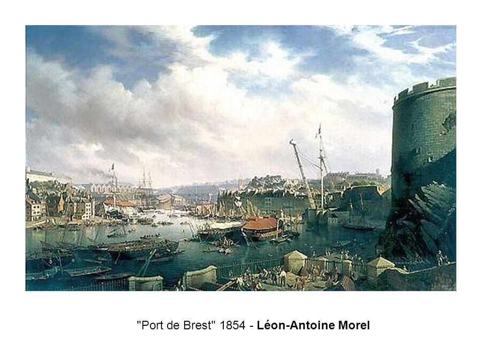 Port de Brest 1854 - Léon-Antoine Morel