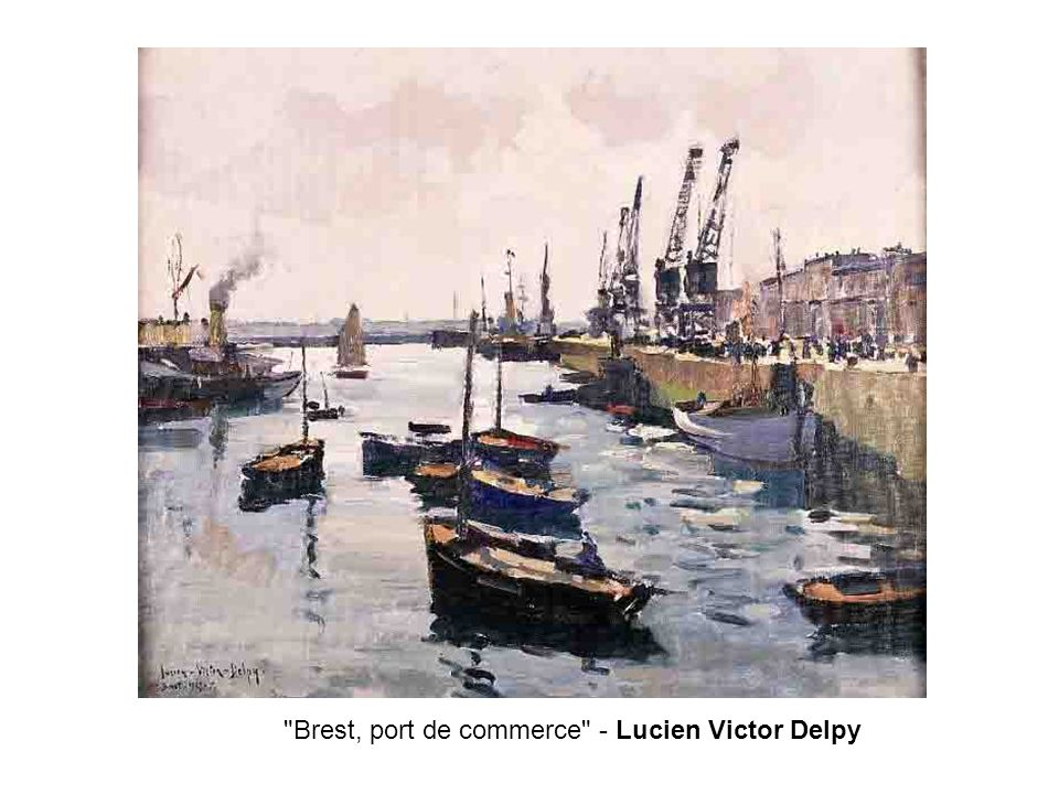 Brest, port de commerce - Lucien Victor Delpy