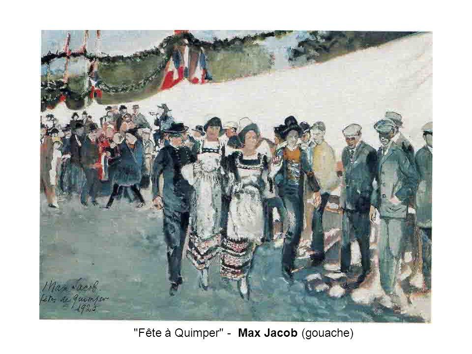 Fête à Quimper - Max Jacob (gouache)