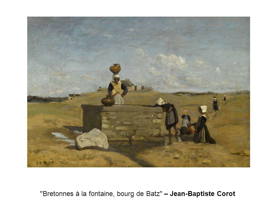 Bretonnes à la fontaine, bourg de Batz – Jean-Baptiste Corot