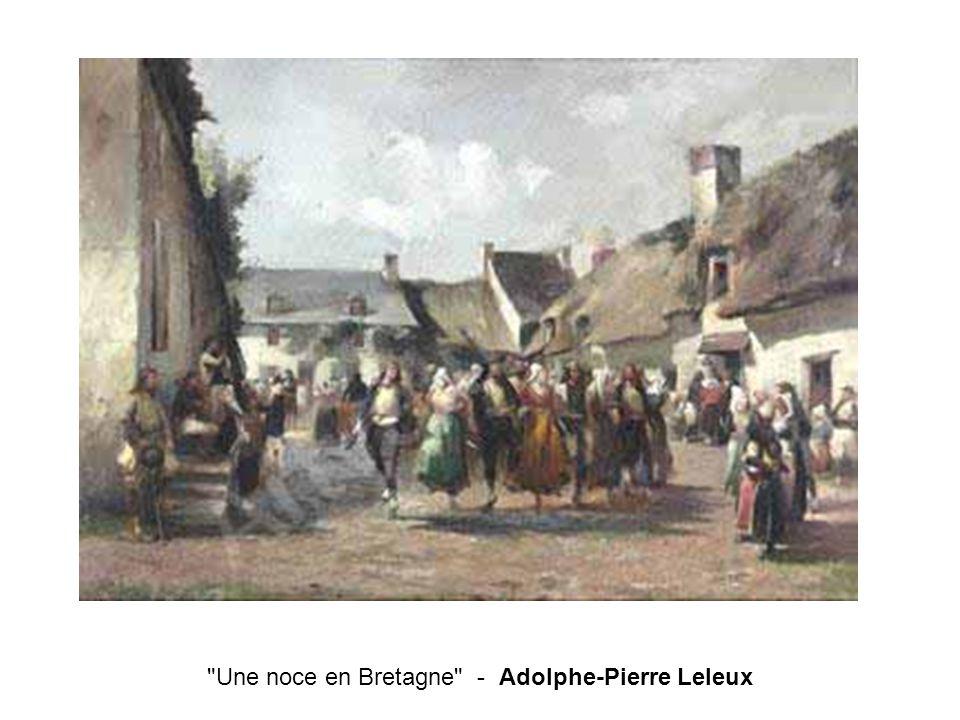 Une noce en Bretagne - Adolphe-Pierre Leleux