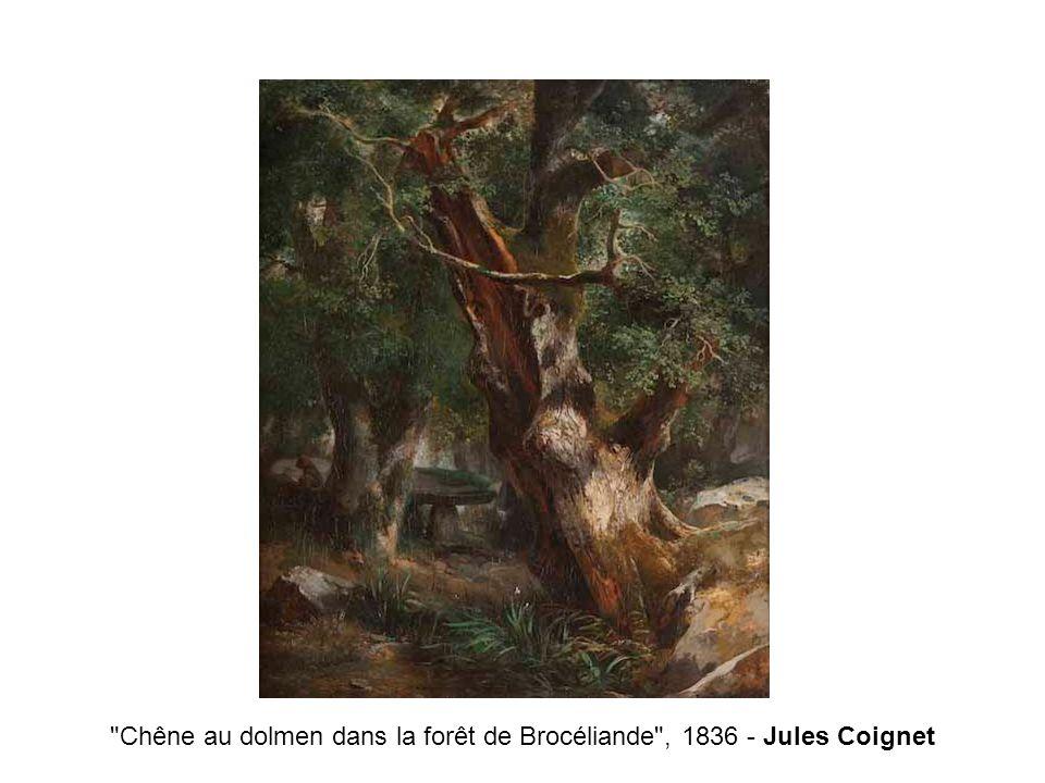 Chêne au dolmen dans la forêt de Brocéliande , 1836 - Jules Coignet