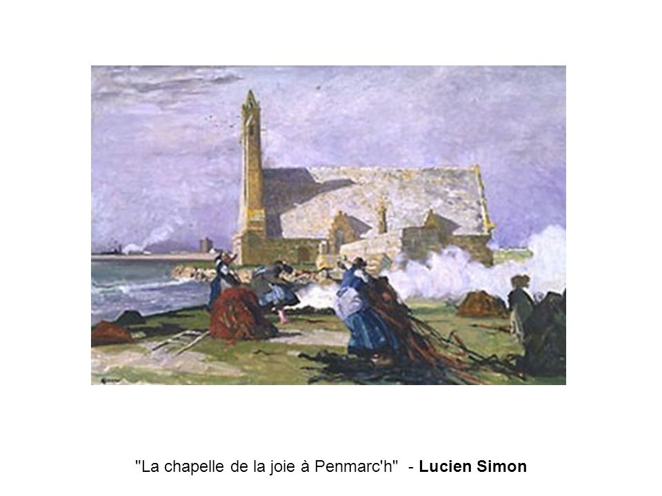 La chapelle de la joie à Penmarc h - Lucien Simon