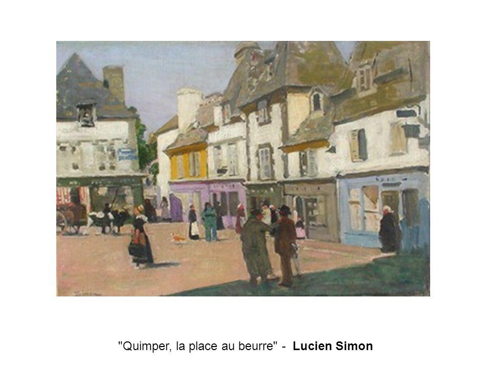 Quimper, la place au beurre - Lucien Simon