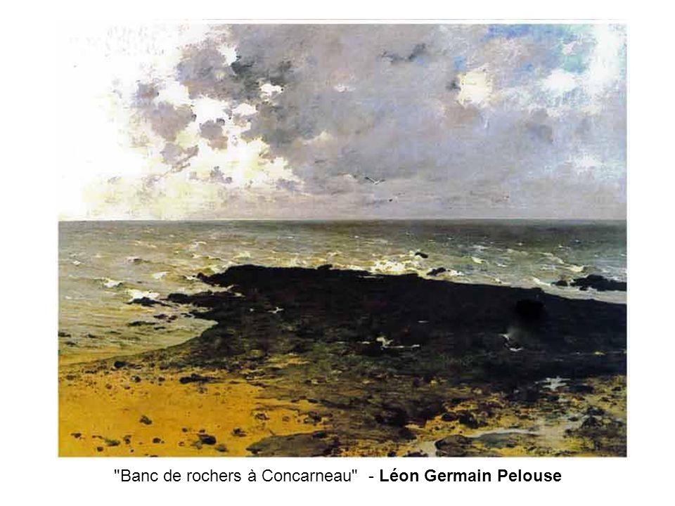 Banc de rochers à Concarneau - Léon Germain Pelouse