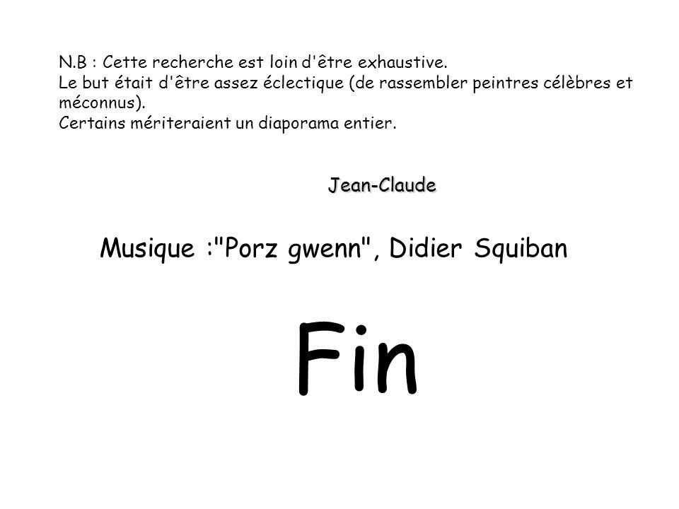 Fin Musique : Porz gwenn , Didier Squiban