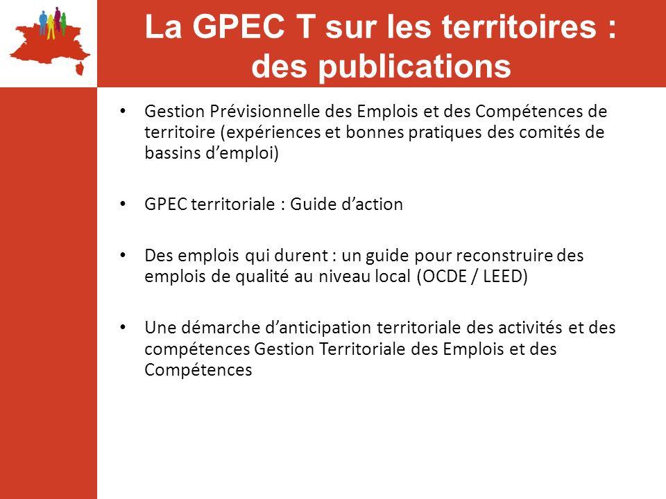 La GPEC T sur les territoires : des publications