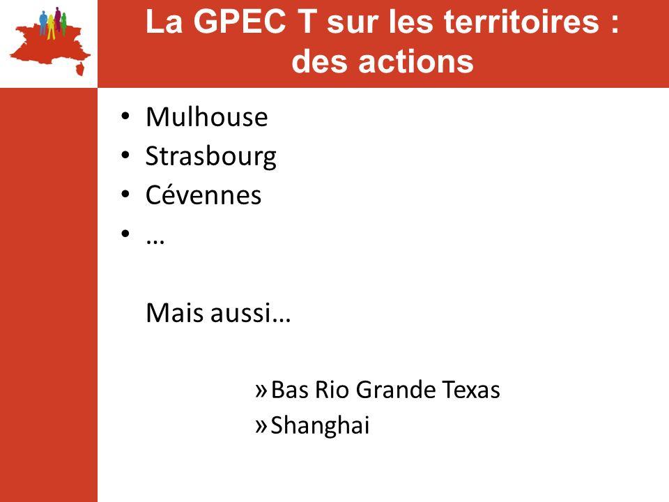 La GPEC T sur les territoires : des actions