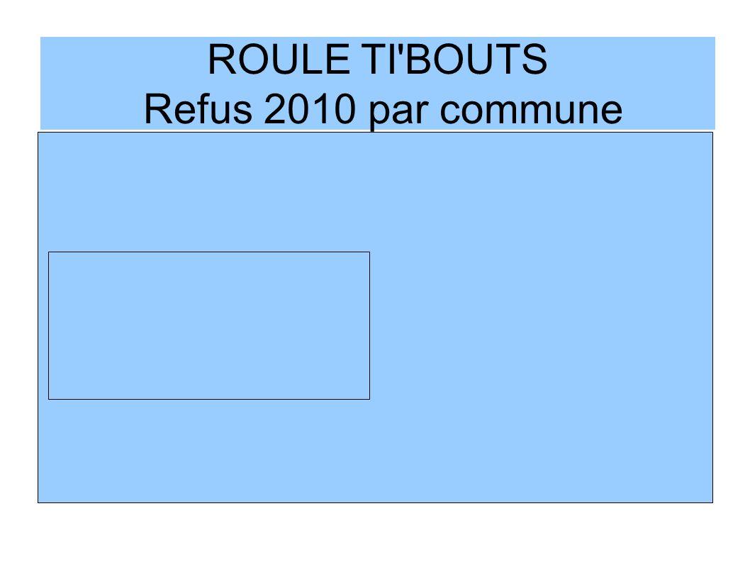 ROULE TI BOUTS Refus 2010 par commune